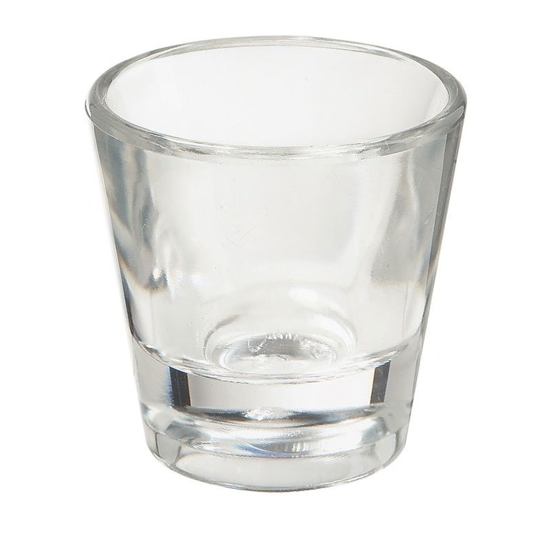 "GET SW-1425-1-CL 1-oz Shot Glass, 2"" Diameter x 2"" Tall, Clear Plastic"