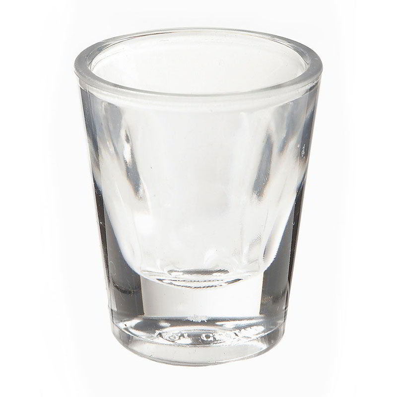 "GET SW-1427-1-CL 1-oz Shot Glass, 2"" Diameter x 2.75"" Tall, Clear Plastic"