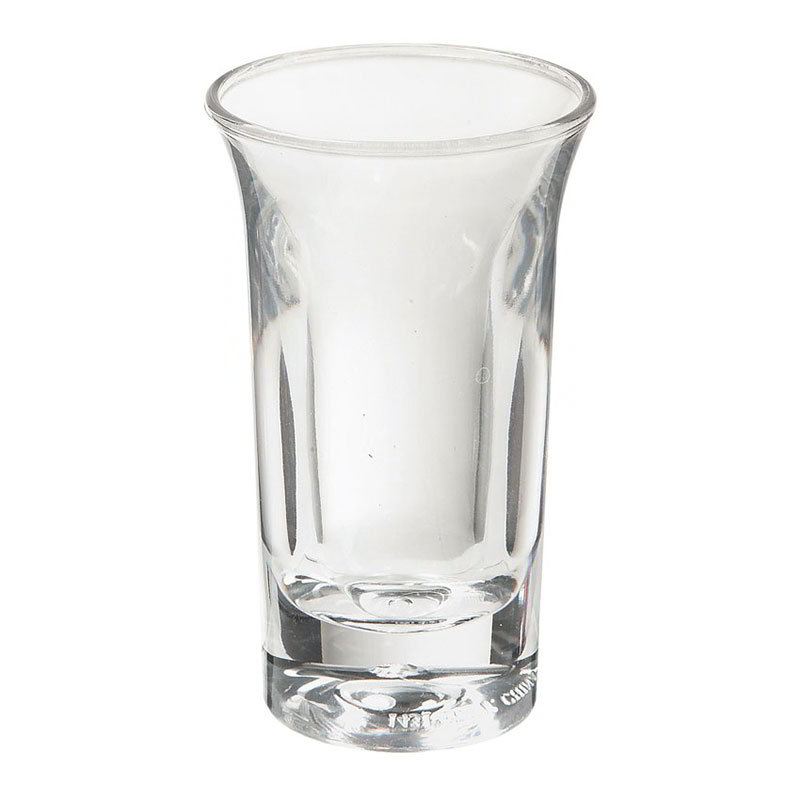 "GET SW-1431-1-CL 1-oz Shooter, 2.75"" Diameter x 3.75"" Tall, Clear Plastic"
