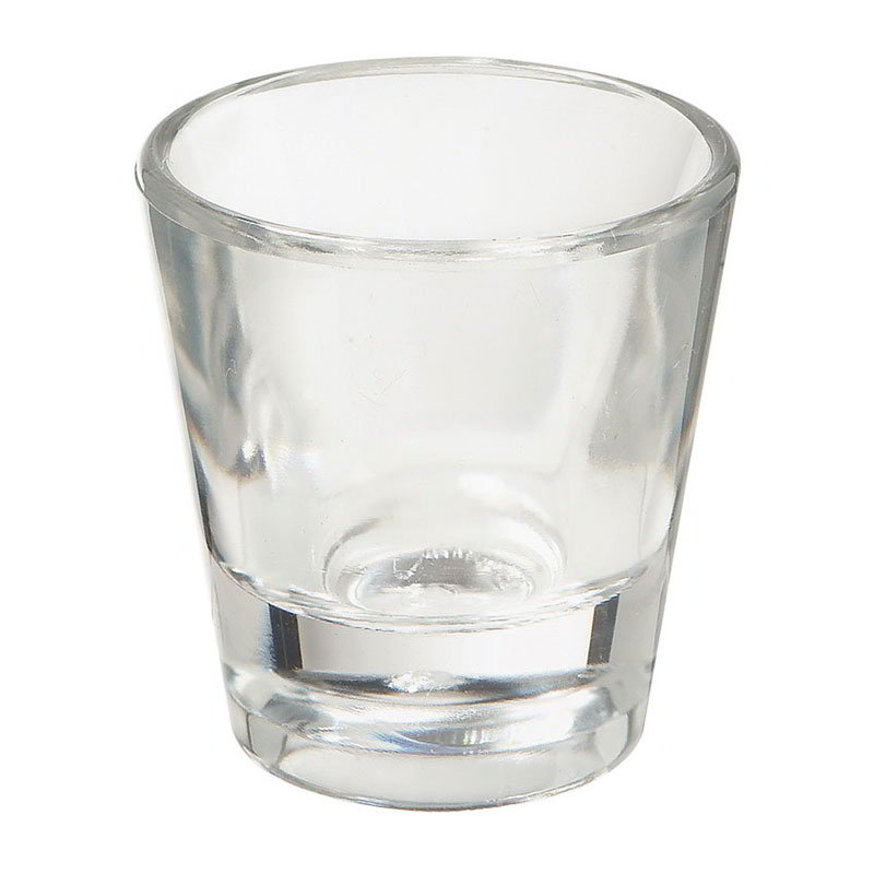 "GET SW-1433-1-CL 7/8-oz Shot Glass, 1-7/8"" Diameter x 2.2"" Tall, Clear Plastic"