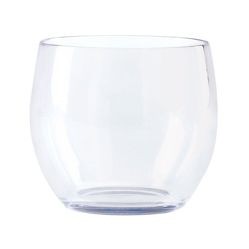 GET SW-1460-CL 8-oz Wine Glass -  Stemless, Clear Plastic