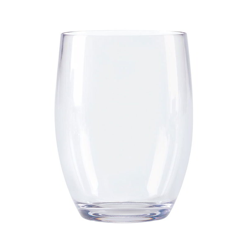 GET SW-1461-CL 8-oz Plastic Wine Glass, Stemless