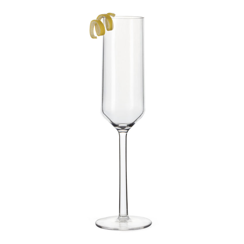 GET SW-1462-PC-CL 6-oz Via Champagne Glass, Polycarbonate