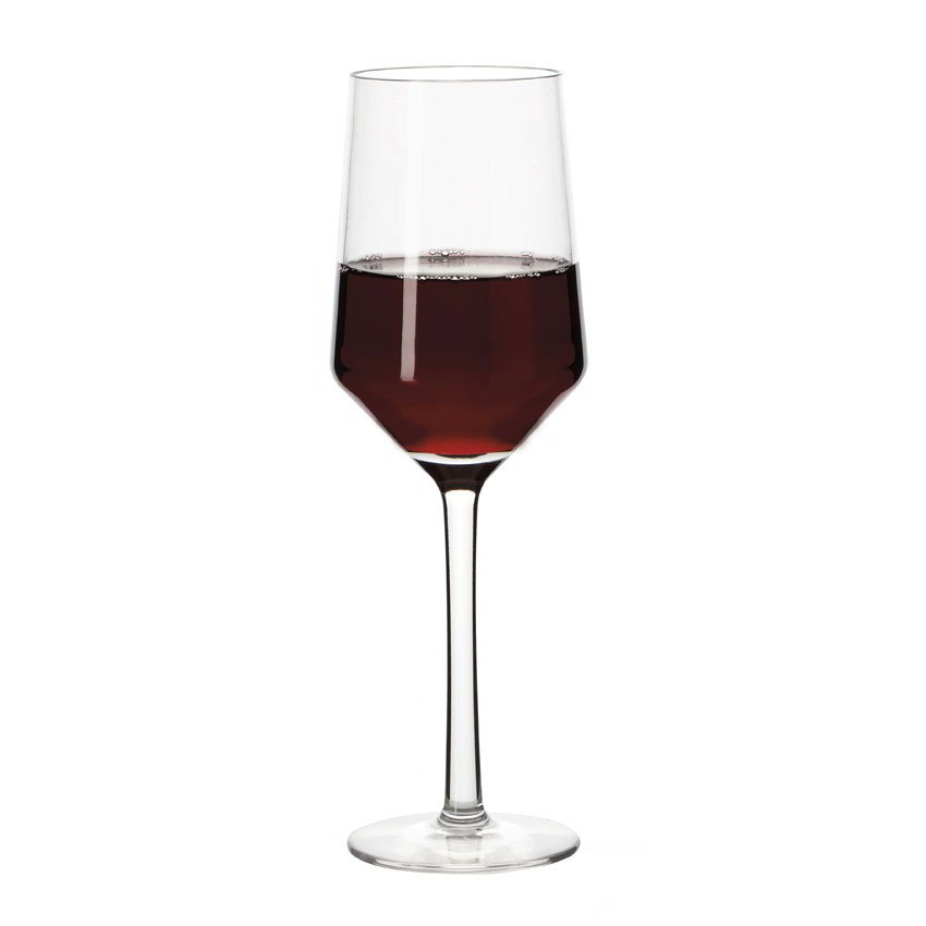 GET SW-1463-CL 10-oz Via Wine Glass, Plastic