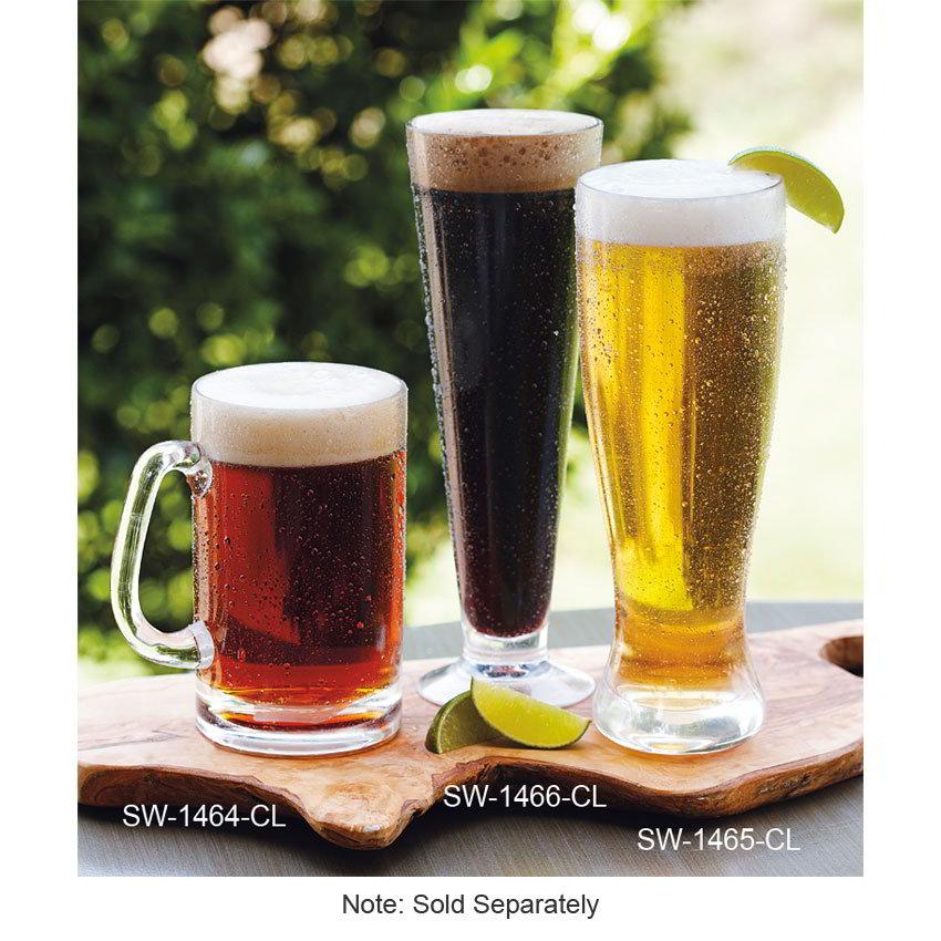 GET SW-1464-CL 20-oz Beer Mug - Plastic