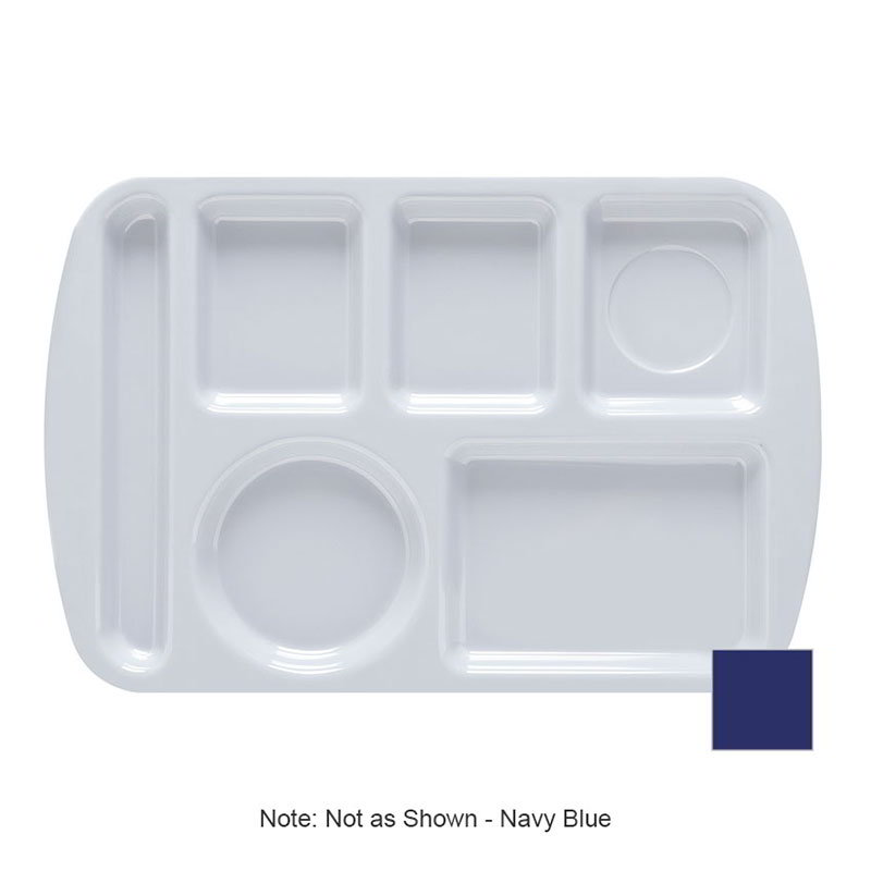 GET TL-151-NB School Tray, 6 Compartment, Left-Handed, Navy Blue