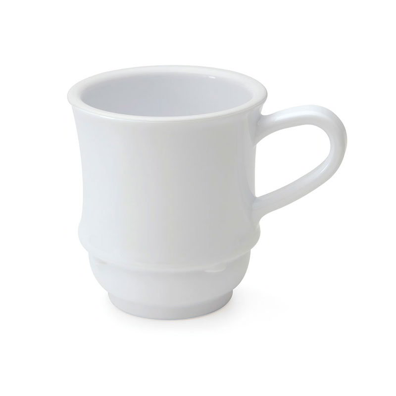 GET TM-1208-W 8-oz Bake And Brew Stacking Mug, White Plastic