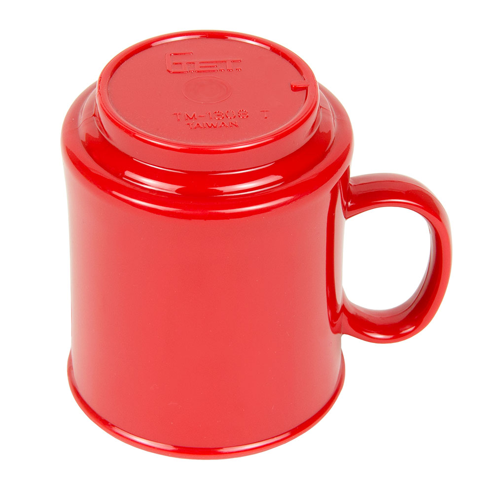 GET TM-1308-CR 8-oz Coffee Mug, Plastic, Cranberry