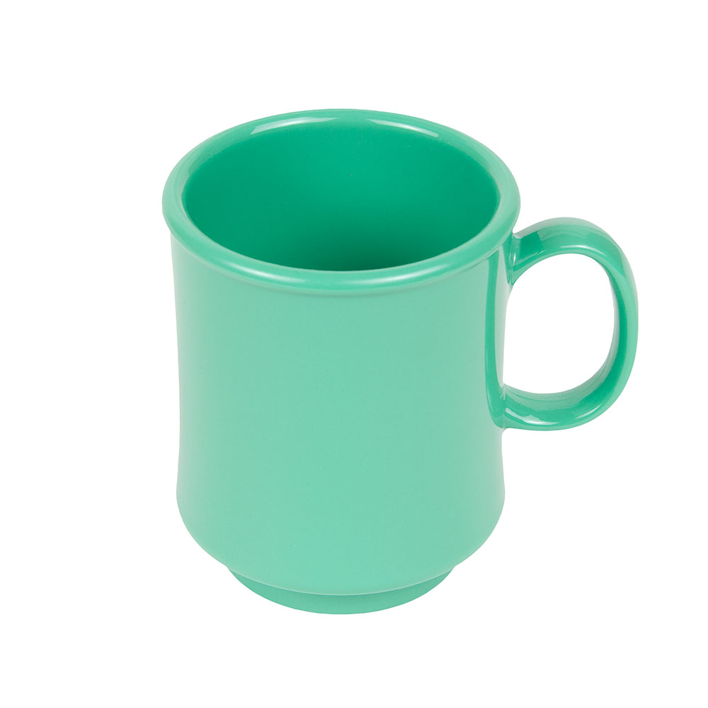 GET TM-1308-FG 8-oz Plastic Mug / Cup, Stacking, Rainforest Green