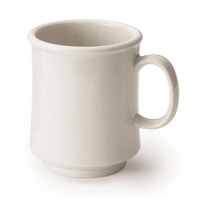 GET TM-1308-IR 8-oz Plastic Mug / Cup, Stacking, Ironstone Speckled