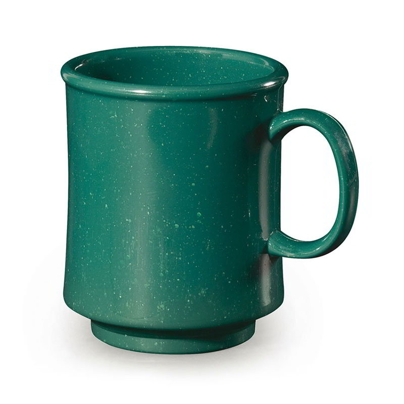 GET TM-1308-KG Mug, 8-oz, Stacking, Plastic, Centennial KY Green, Speckled