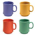 GET TM-1308-MIX (4) 8-oz Coffee Mug, Plastic, Multi-Colored