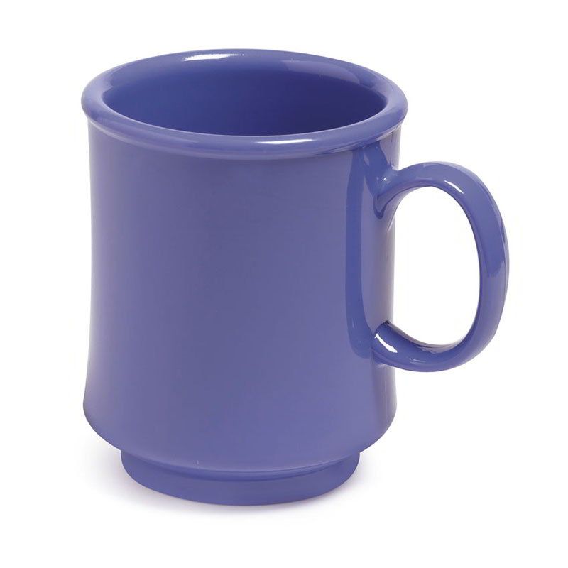 GET TM-1308-PB 8-oz Plastic Mug / Cup, Stacking, Peacock Blue