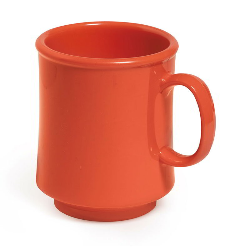 GET TM-1308-RO 8-oz Plastic Mug / Cup, Stacking, Rio Orange