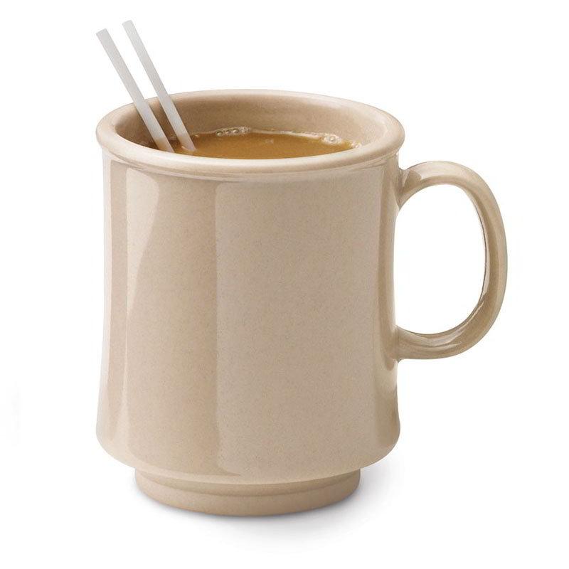 GET TM-1308-S 8-oz Plastic Mug / Cup, Stacking, Sandstone