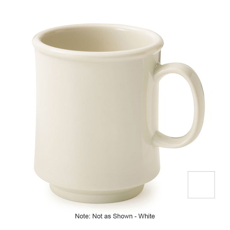 GET TM-1308-W 8-oz Bake And Brew Stacking Mug, White Plastic