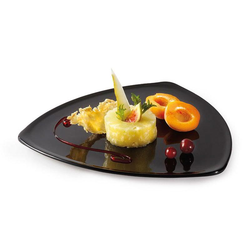 """GET TP-12-BK 12"""" Triangular Dinner Plate, Melamine, Black"""