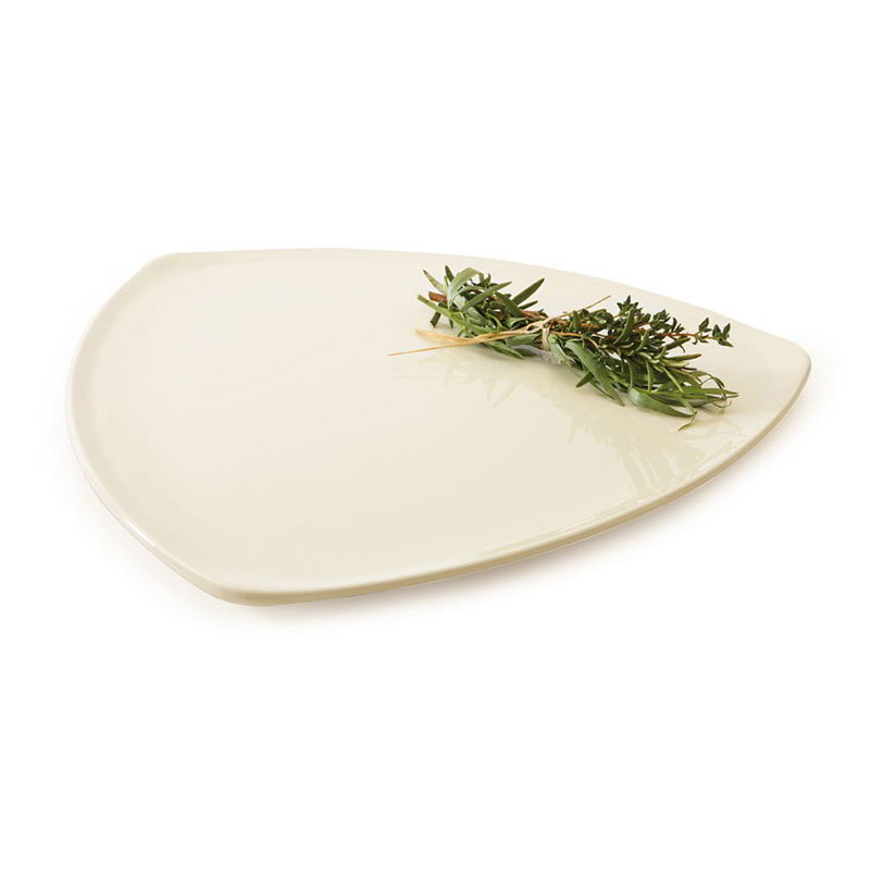 "GET TP-12-DI 12""Triangle Plate, Melamine, Ivory"