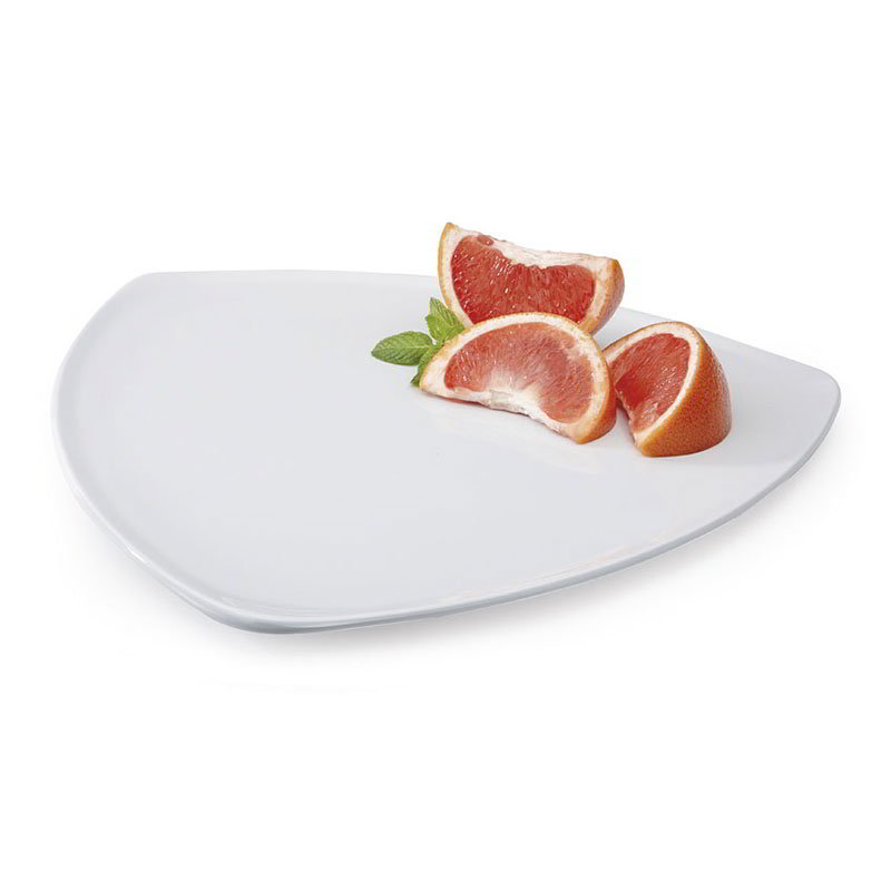 "GET TP-12-DW 12""Triangle Plate, Melamine, White"