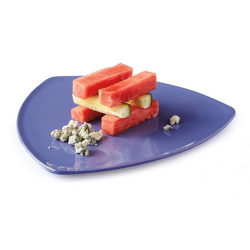 "GET TP-12-PB 12"" Triangular Dinner Plate, Melamine, Blue"