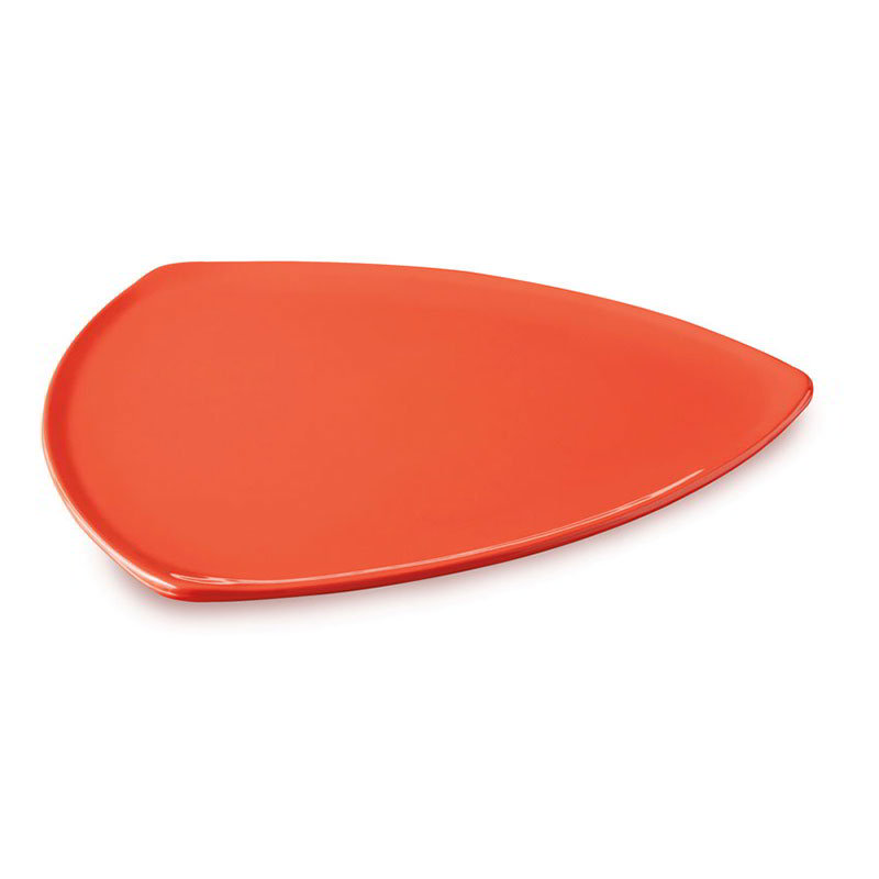 "GET TP-12-RO 12""Triangle Plate, Melamine, Rio Orange"