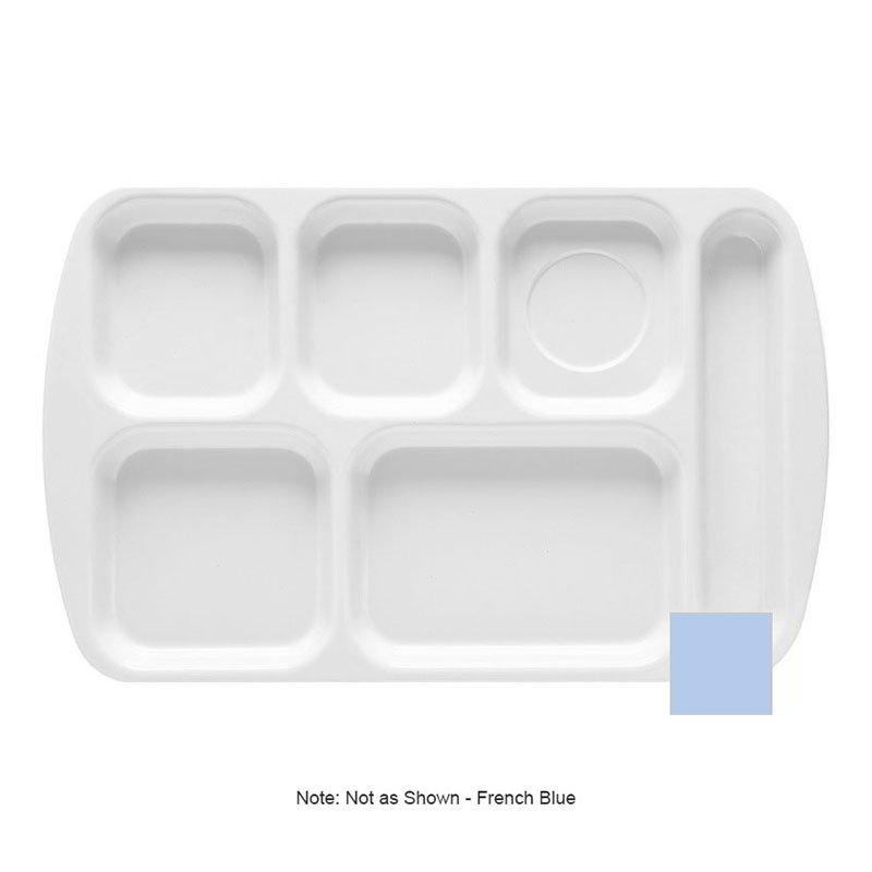 GET TR-151-FB School Tray, 6 Compartment, Right-Handed, French Blue