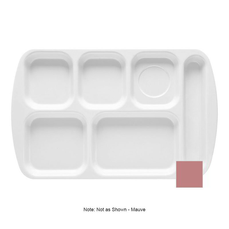 GET TR-151-MAV School Tray, 6 Compartment, Right-Handed, Mauve