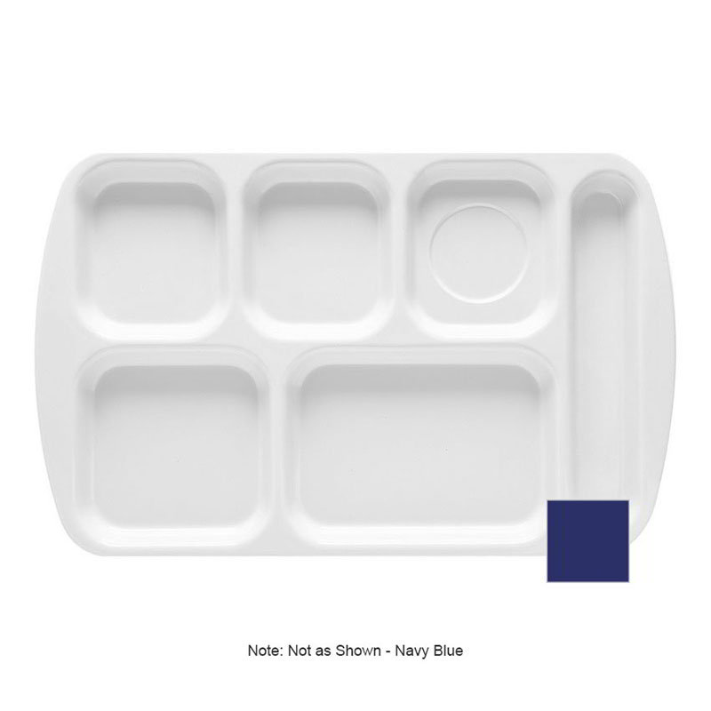 GET TR-151-NB School Tray, 6 Compartment, Right-Handed, Navy Blue