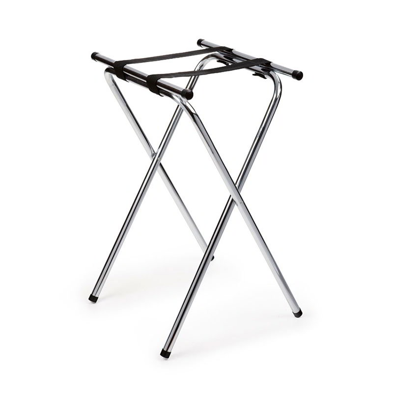 "Get TSC-102 Tray Stand, 32"" High, Double Bar, Deluxe Chrome"