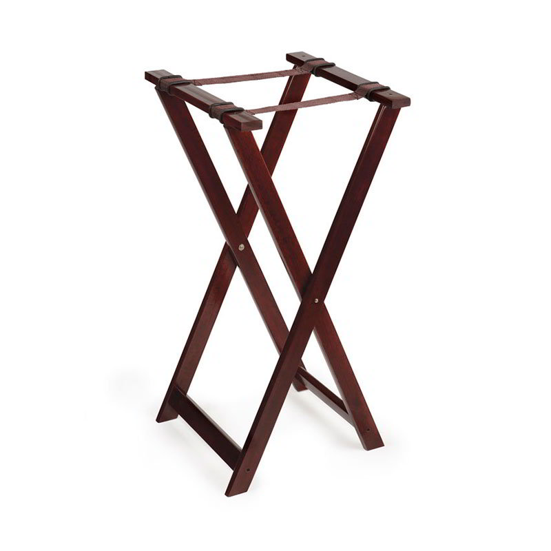 "GET TSW-103 Tray Stand, 31-1/2"" High, Walnut Hardwood"