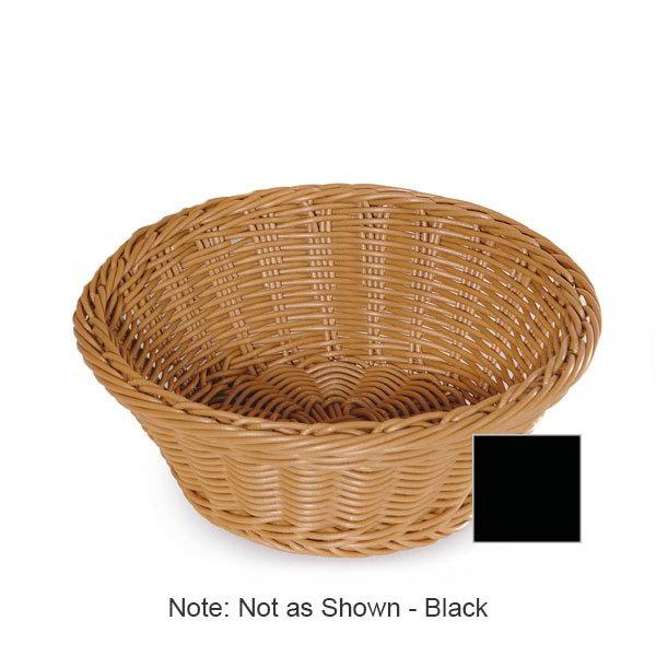 """GET WB-1501-BK Designer Polyweave Basket, Round, 9-1/2 x 3-1/2""""Deep, Polypropylene, Black"""