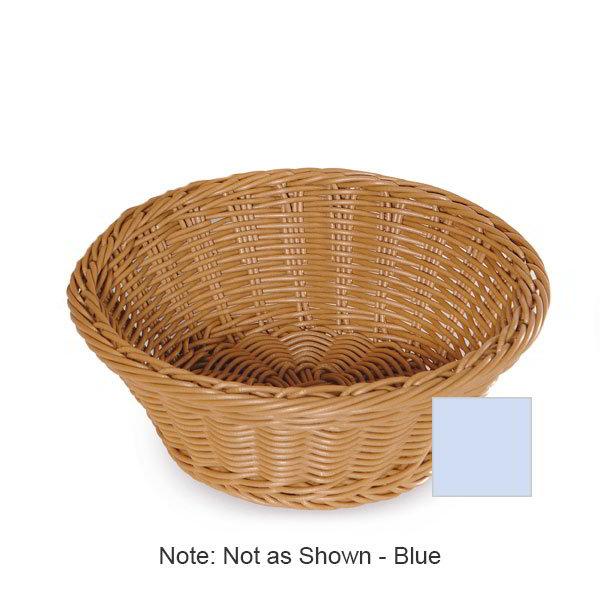 "GET WB-1501-BL Designer Polyweave Basket, Round, 9-1/2 x 3-1/2""Deep, Polypropylene, Blue"