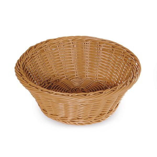 """GET WB-1501-N Designer Polyweave Basket, Round, 9-1/2 x 3-1/2""""Deep, Polypropylene, Natural"""