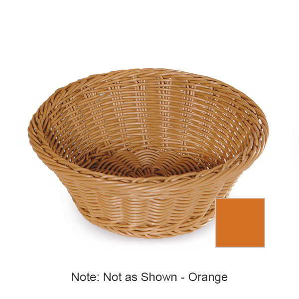 "GET WB-1501-OR Designer Polyweave Basket, Round, 9-1/2 x 3-1/2""Deep, Polypropylene, Orange"