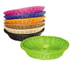 """GET WB-1502-BK Designer Polyweave Basket, Round, 11-1/2 x 2-3/4""""Deep, Polypropylene, Black"""