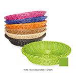 "GET WB-1502-G Designer Polyweave Basket, Round, 11-1/2 x 2-3/4""Deep, Polypropylene, Green"