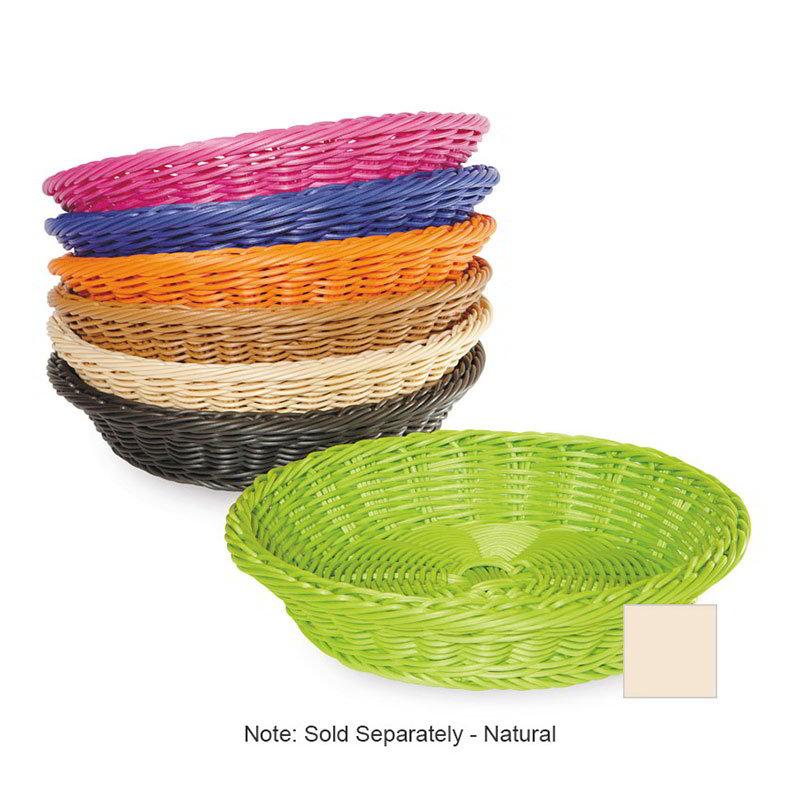 """GET WB-1502-N Designer Polyweave Basket, Round, 11-1/2 x 2-3/4""""Deep, Polypropylene, Natural"""