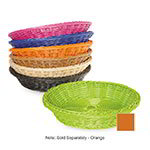 "GET WB-1502-OR Designer Polyweave Basket, Round, 11-1/2 x 2-3/4""Deep, Polypropylene, Orange"