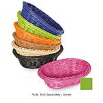 "GET WB-1503-G Designer Polyweave Basket, Oval, 9 x 6-3/4 x 2-1/2""Deep, Polypropylene, Green"