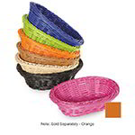 "GET WB-1503-OR Designer Polyweave Basket, Oval, 9 x 6-3/4 x 2-1/2"" Deep, Poly, Orange"