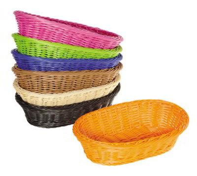 "GET WB-1505-G Designer Polyweave Basket, Oval, 11-3/4 x 8 x 3""Deep, Polypropylene, Green"