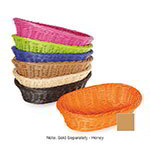 "GET WB-1505-H Designer Polyweave Basket, Oval, 11-3/4 x 8 x 3""Deep, Polypropylene, Honey"