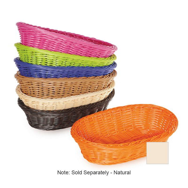 "GET WB-1505-N Designer Polyweave Basket, Oval, 11-3/4 x 8 x 3""Deep, Polypropylene, Natural"