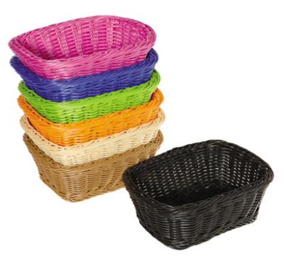 "GET WB-1506-G Designer Polyweave Basket, Oval, 9-1/2 x 7-3/4 x 3-1/2"" Deep, Green"