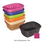 """GET WB-1506-PI Designer Polyweave Rectangular Basket, 9.5 x 7.75 x 3.5"""" Deep, Pink"""