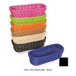 """GET WB-1507-BK Designer Polyweave Basket, Rectangular, 10 x 4-3/4 x 3"""" Deep, Black"""