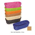 "GET WB-1507-HY Designer Polyweave Basket, Rectangular, 10 x 4-3/4 x 3"" Deep, Honey"