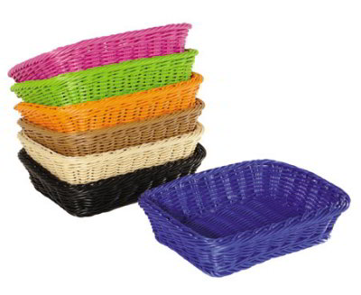 GET WB-1508-H Designer Polyweave Basket, Rectangular, 11-1/2 x 8-1/2 x 2-3/4 in Deep, Honey