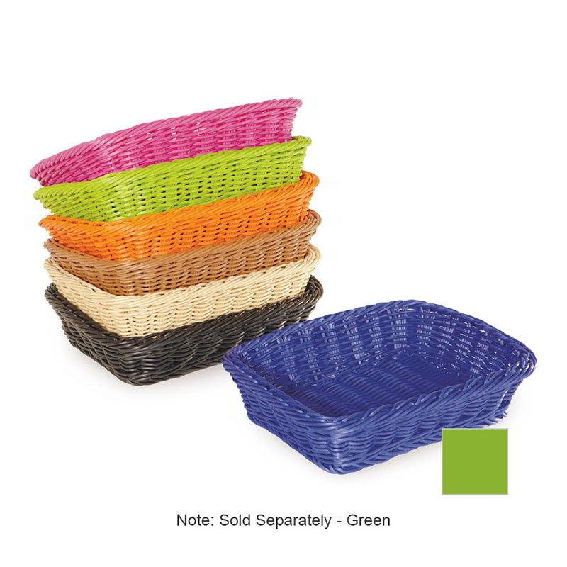 "GET WB-1508-G Designer Polyweave Basket, Rectangular, 11-1/2 x 8-1/2 x 2-3/4"" Deep, Green"
