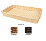 """GET WB-1509-BK Designer Polyweave Basket, Rectangular, 18 x 312-3/4 x 2-1/2"""" Deep, Black"""